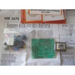 Kit para montar un Sensor electrónico que calcula la pureza del aire