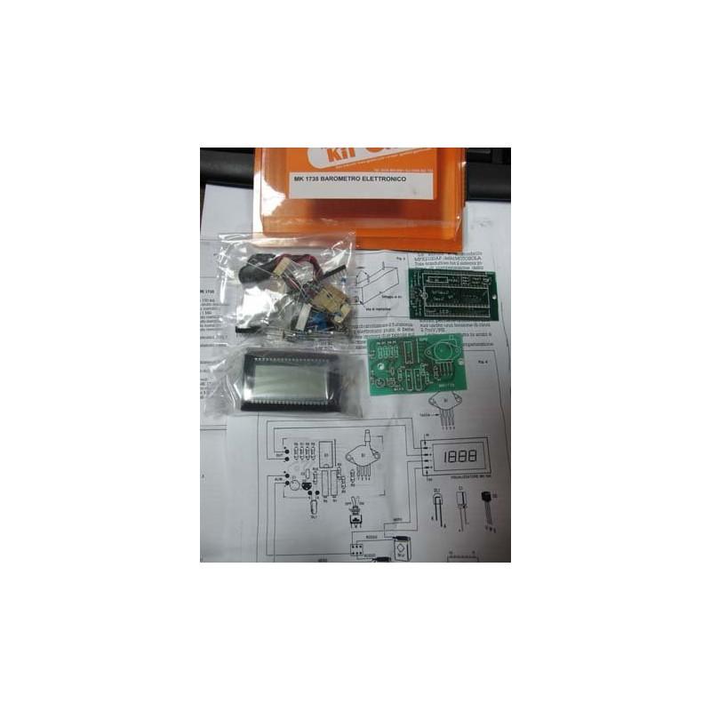 Kit para montar un Barómetro electrónico con display a cristal líquido