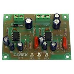 Amplificador 1,8W estéreo 2 canales 4/14VCC
