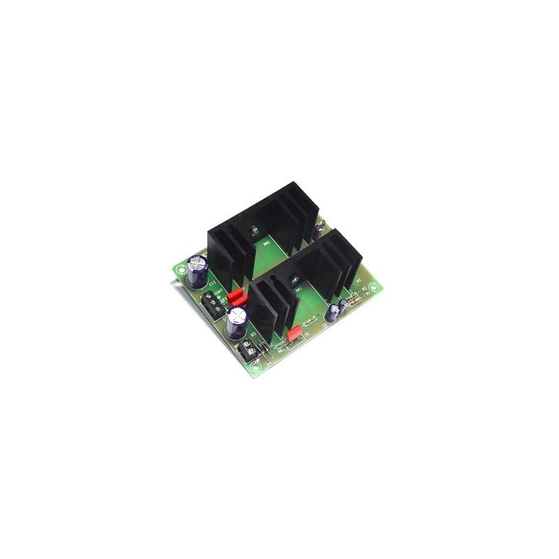 Amplificador 15W estéreo 2 canales 12/35 VCC
