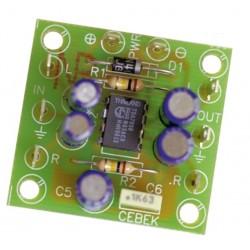 Amplificador para auricular estéreo 2 canales