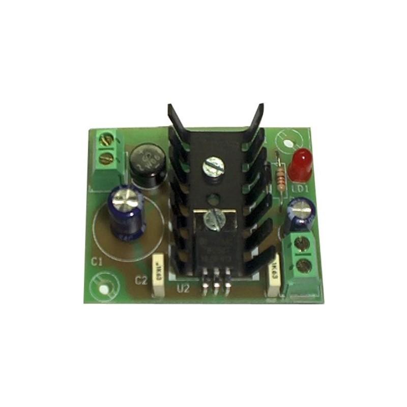 Fuente de alimentación lineal 24V 300mA (fuente + transformador)