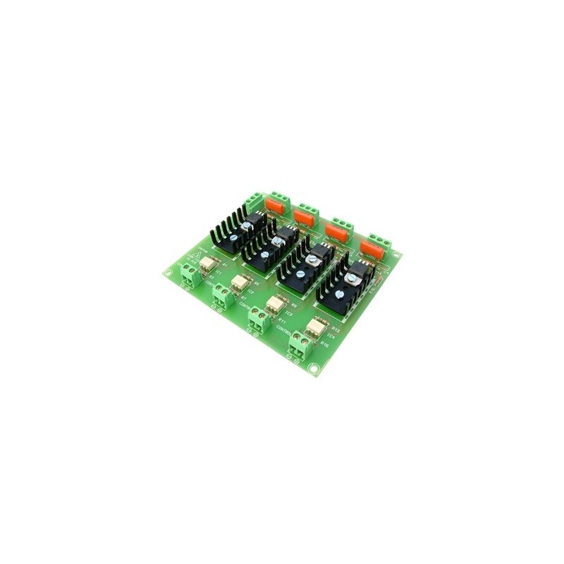 Interface optocoplado de 4 salidas mosfet