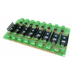 Interface optocoplado de 8 salidas a transistor mosfet
