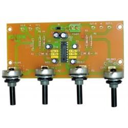 Control de tonos estéreo 2 canales 12VCC