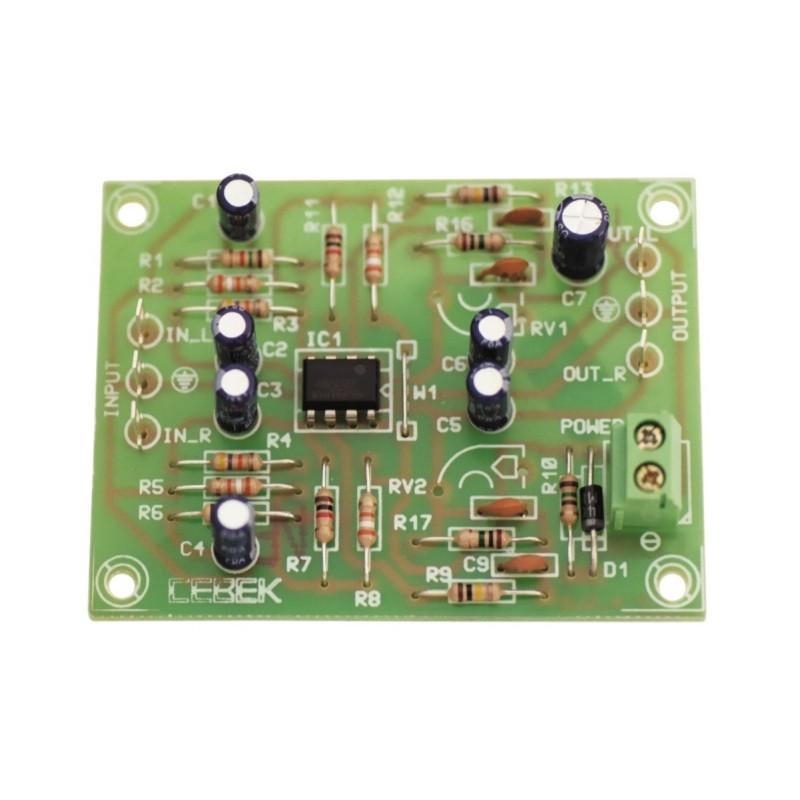 Preamplificación giradiscos estéreo 2 canales