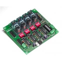 Telemando receptor RF. esclavo 4 canales monoestable 12VCC