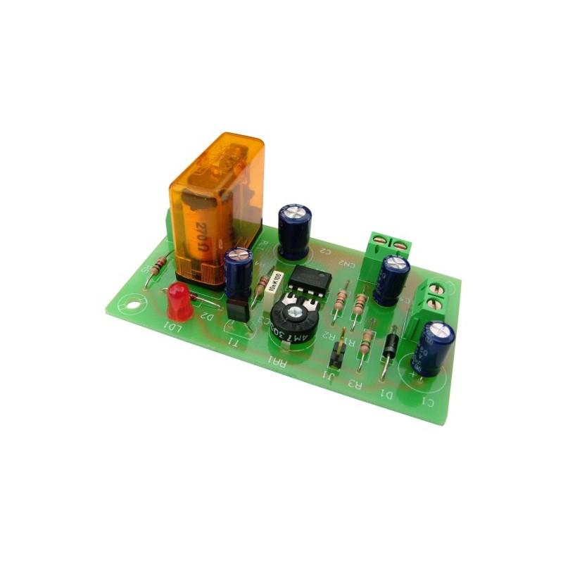 Temporizador redisparable 2/45 min. 12VCC