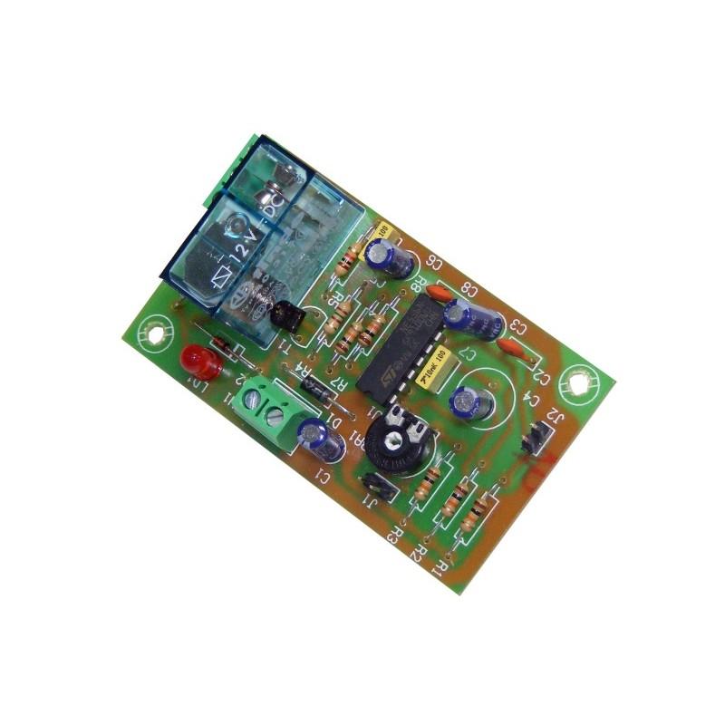 Temporizador retardador p/ marcha 1seg. 3 min.12VCC