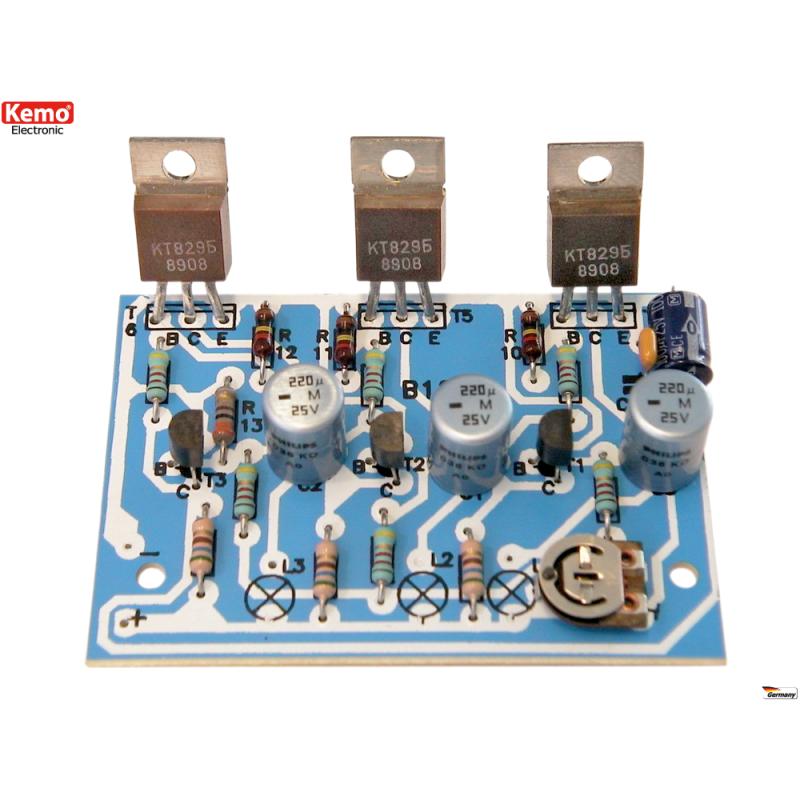 Luz en marcha 3-canales, para bombillas de 6-24V[B128]