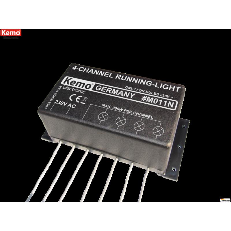 Luz en marcha 4-canales 230 V/AC~ [M011N]