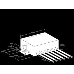 Transformador de corriente directa Entrada: 6 - 14 V/DC, Salida: 11 - 26 V/DC