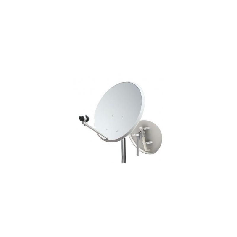 "Kit antena parabólica Metalica 60 cm + LNB + soporte en ""L"" metalico"