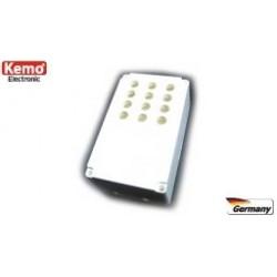 KEMO ELECTRÓNICA: Caja teclado para mando con 12 taladros