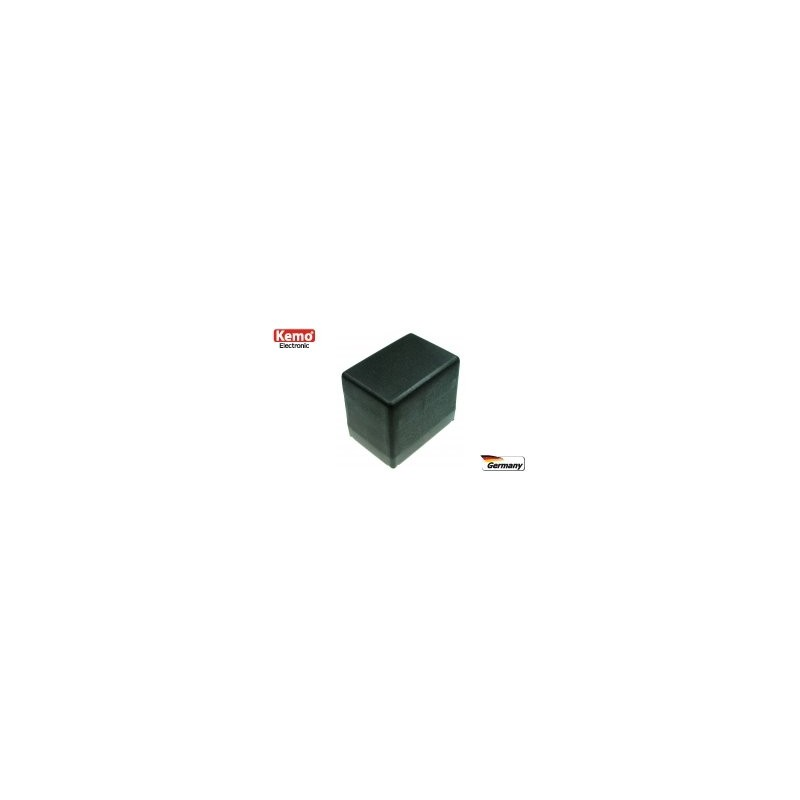 Caja de plástico, negra  72x50x63 mm