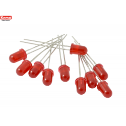 LED 0,5mm Rojo, 10 pz