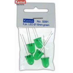 LED 0,10mm Verde, 5 pz