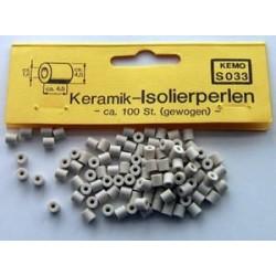 Componentes electrónicos: perlas aislantes en gano, 100 piezas