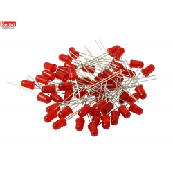 LED 0,3mm Rojo, 50pz