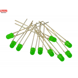 LED para alinear 0.5mm-10 pz, Verde