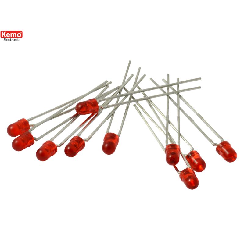 LED para alinear 0.5mm-10 pz, Rojo
