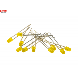 LED para alinear 0.5mm-10 pz, Amarillo