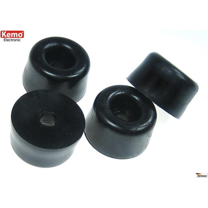 Pies para cajas, negros, grandes 22 x 13 mm