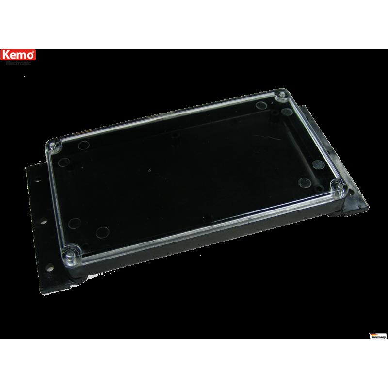 Caja para kits electronicos mural plana con tapa transparente