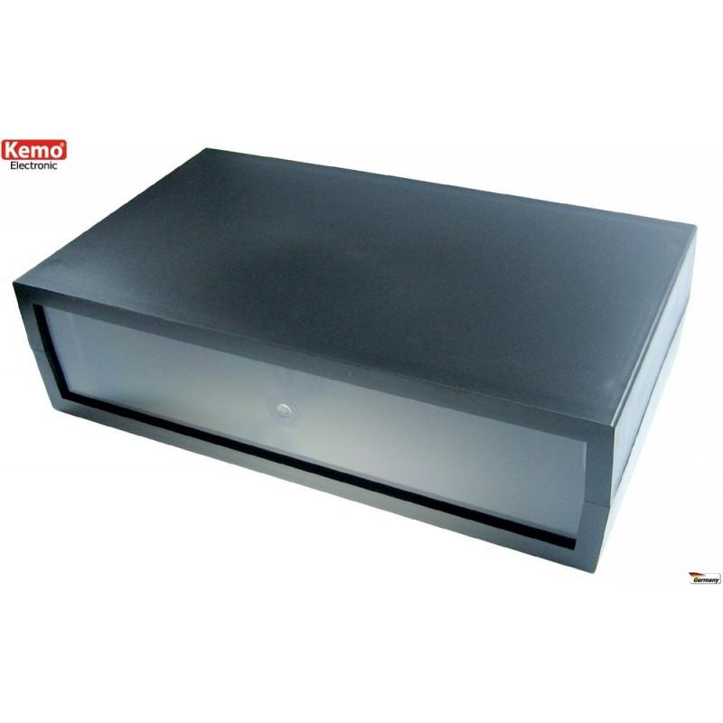 Caja con frontal transparente para kits de iluminación 284 x 160 x 76 mm