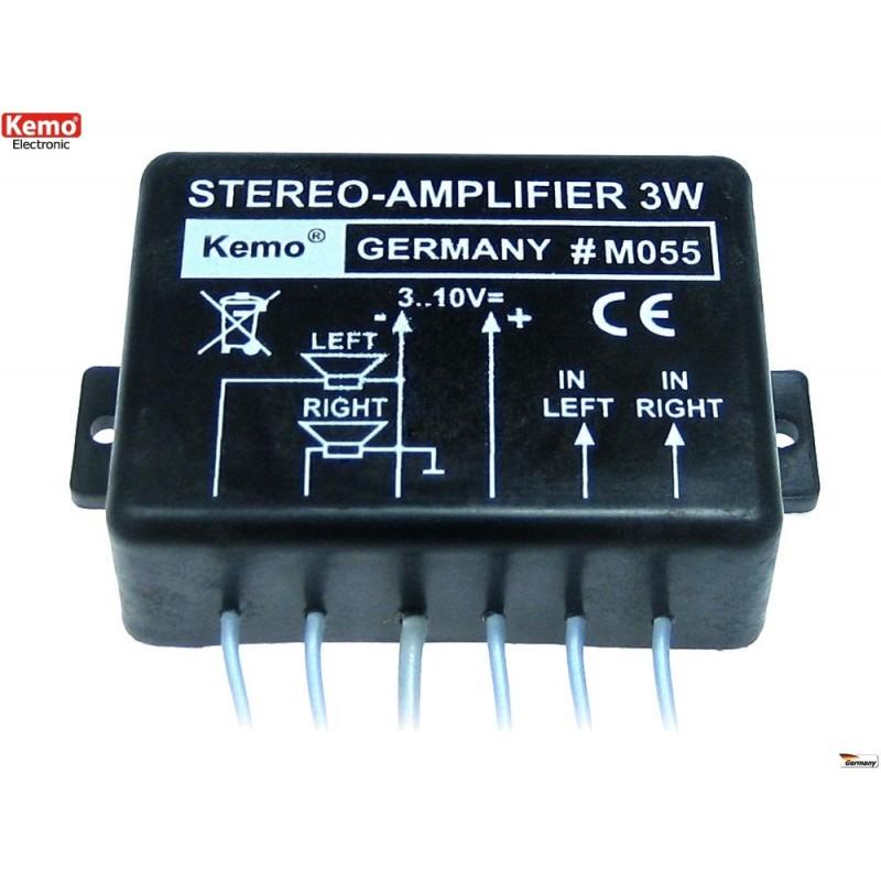 Amplificador estereo 3W