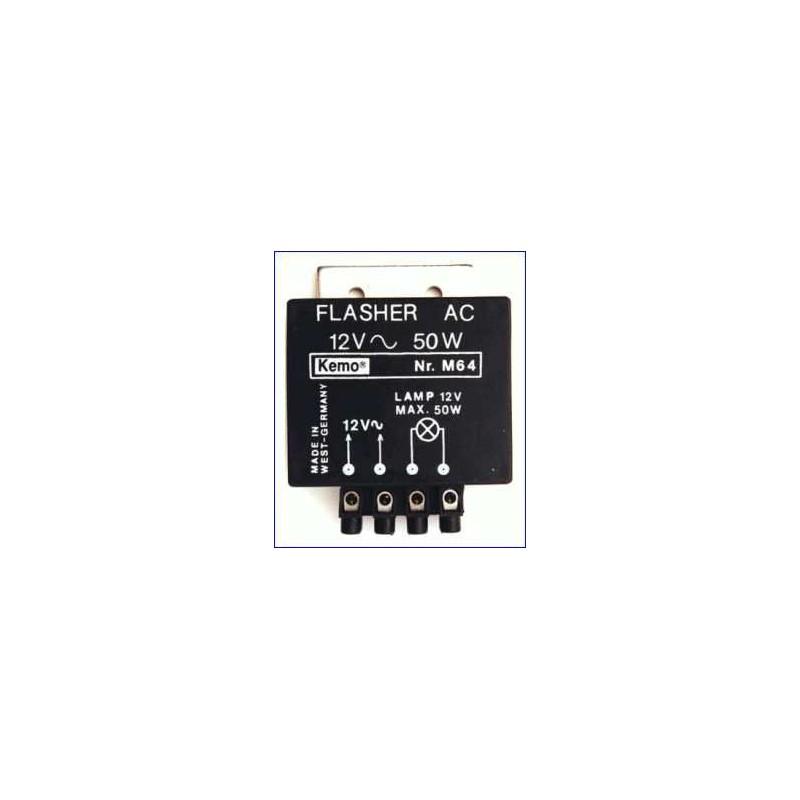 Luz intermitente 12V-, max. 50W para lamparas de halogeno y bomb