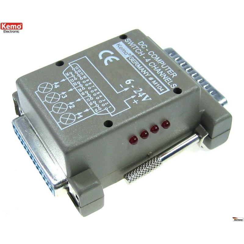 Interruptor ordenador 4 canales