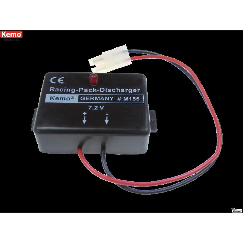 Descargador de acumulador, para Racing Packs 7,2 V/DC