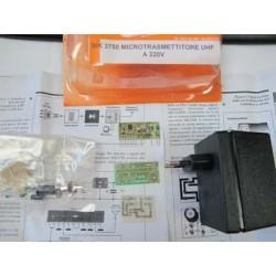 Kit para montar un Microtransmisor UHF - FM 220V oculto en alimentador
