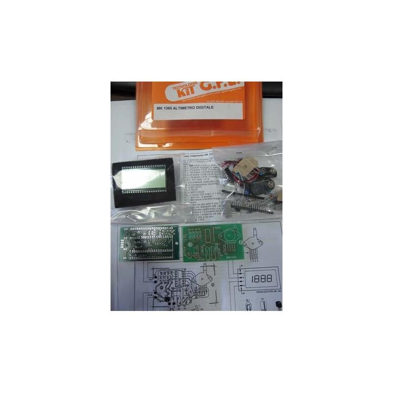 Kit para montar un Altímetro electrónico con display digital LCD