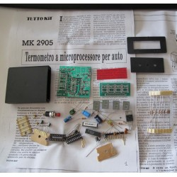 Kit para montar un Termómetro micro PC para automovil display 4 cifras