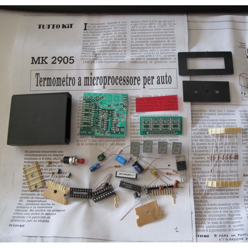 Kit para montar un Termómetro micro PC para automovil display 4 cifras