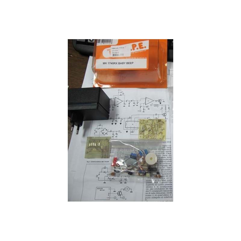 Kit para montar un Receptor Baby Beep para controlar cualquier área