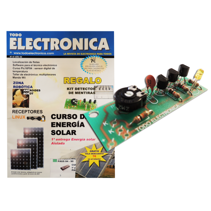 Revista Todoelectronica Nº47 + Kit electrónico Detector de mentiras