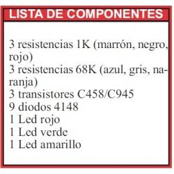 Revista Todoelectronica Nº49 + Kit electrónico Juego de prioridad
