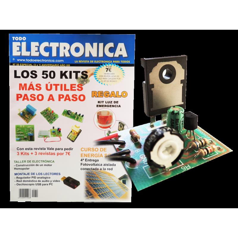 Revista Todoelectronica Nº50 + Kit electrónico Luz de emergencia