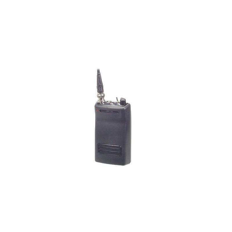Receptor UHF espía de dos canales con autonomía de 40 horas