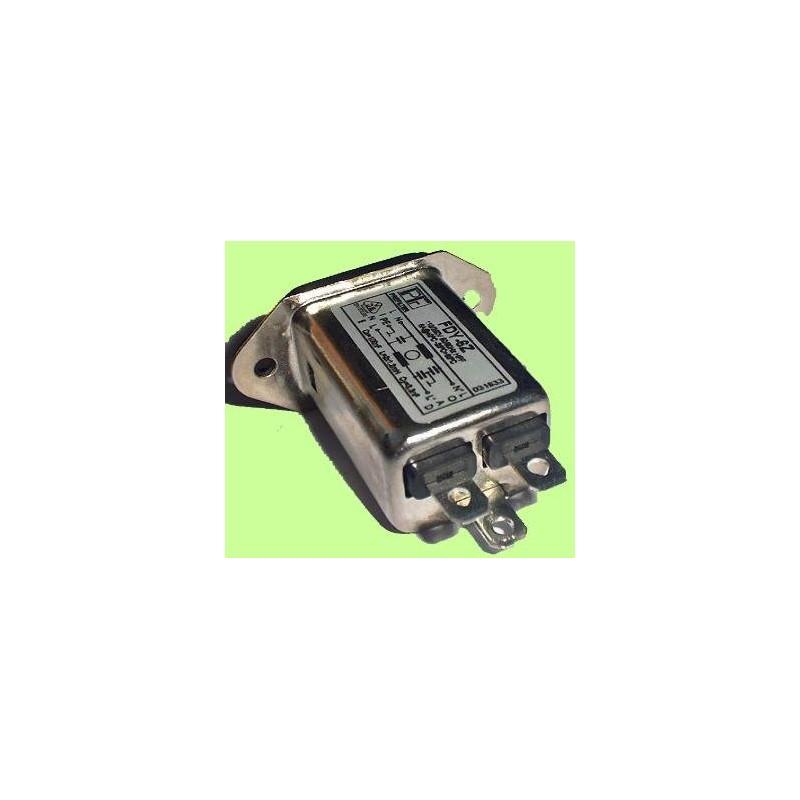 Filtro de red RFI 6A máx. 230VAC Conector IEC