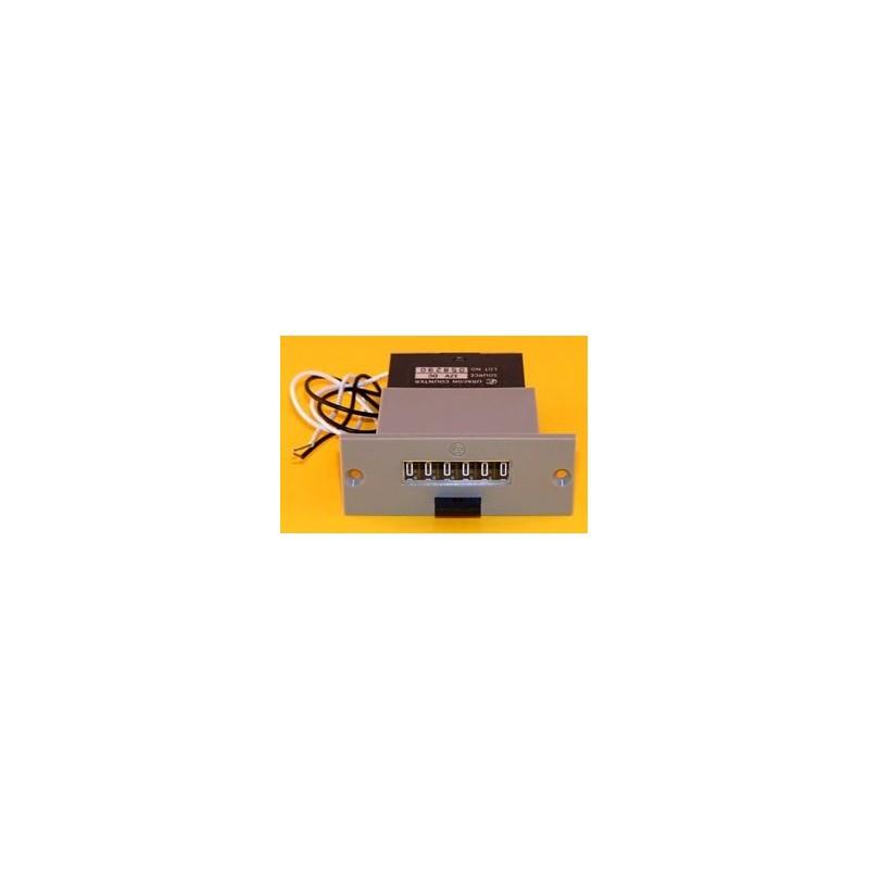 Totalizador electromecánico con reset 6 dígitos