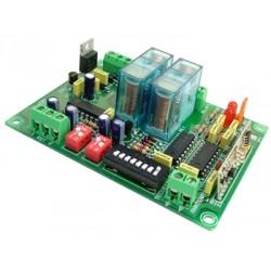 Receptor para emisores R.F.2 canal mon/biest. 12/24V CC