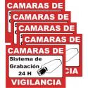 1 minicartel de vinilo autoadesivo sistema de vigilancia
