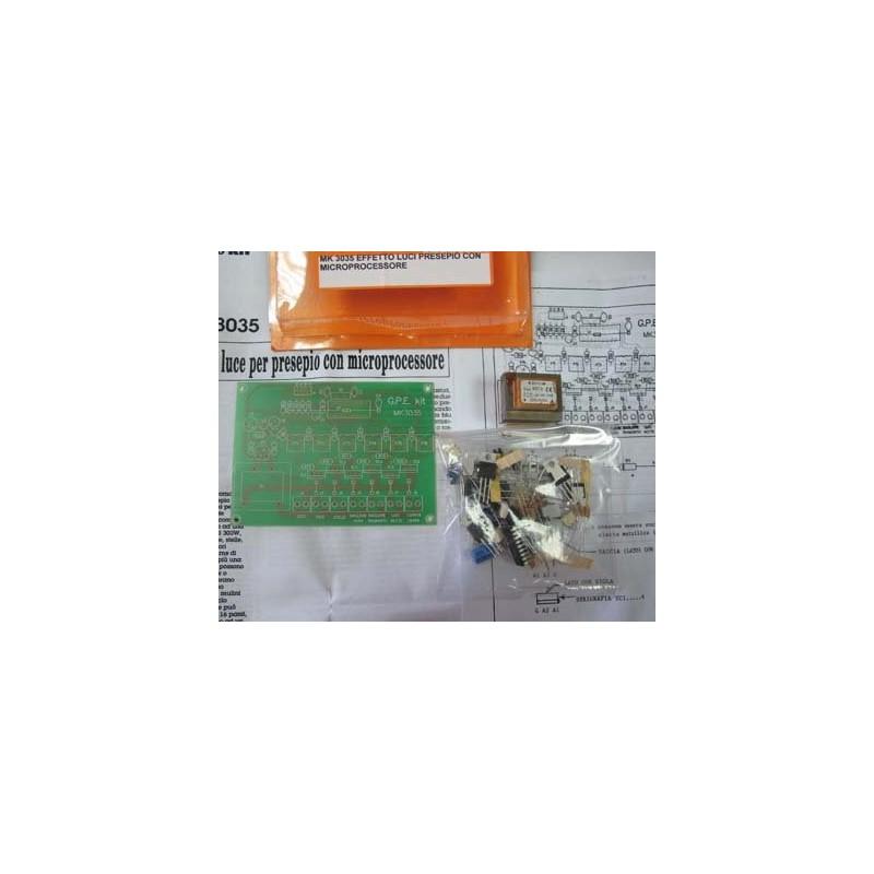 Kit para montar una central de comando con efecto luz cuna 6 Out 220 V