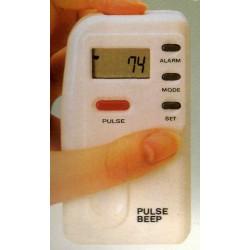 Medidor electrónico de pulsaciones con reloj, alarma y pantalla LCD