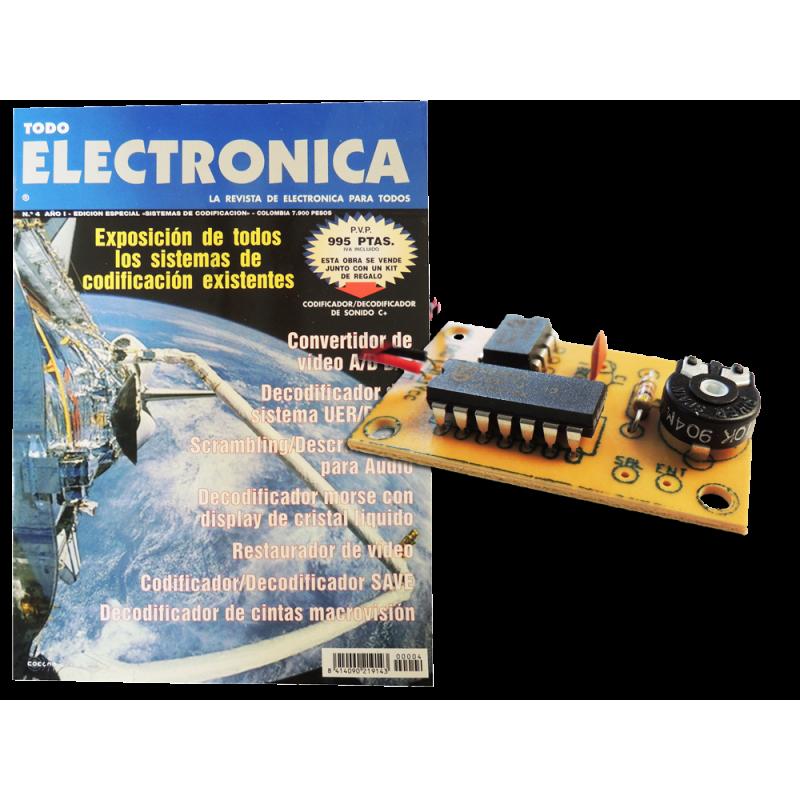 Kit electronico para montar, codificador-decodificador sonido + revista todoelec