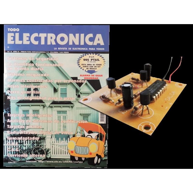 Kit electronico para montar todoelectronica, microalarma seguridad + revista tod